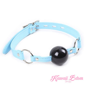 Baby Blue Lockable Gag