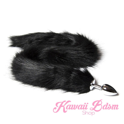 Extra Long Black Tail Plug