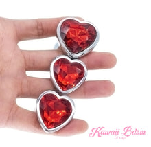 Stainless Steel buttplugs heart shapped pink red blue babygirl sissy femboy aesthetic boy little cglg cglb mdlg mdlb ddlg ddlb agelay petplay kittenplay puppyplay fetish sex partner gift love couple goth kitten pet puppy by Kawaii BDSM - cute and kinky / Worldwide Free Shipping