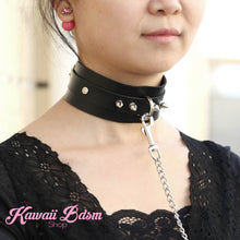 O ring choker collar brat sub submissive dom slave sexy leash chain training ddlg ddlb cglg cglb mdlg mdlb little boy girl pink black purple red goth fashion doll baby by Kawaii Bdsm - Cute and Kinky / Worldwide Free and Discreet Shipping