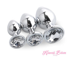 Stainless Steel buttplugs princes plug pink  babygirl sissy femboy aesthetic boy little cglg cglb mdlg mdlb ddlg ddlb agelay petplay kittenplay puppyplay fetish sex partner gift love couple goth kitten pet puppy by Kawaii BDSM - cute and kinky / Worldwide Free Shipping
