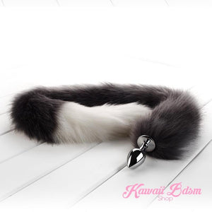 Extra long tail light grey gray wolf kitten puppy fox play kittenplay ageplay ddlg roleplay fetish sexy couple pastel kitsune kink pet petplay by Kawaii BDSM - cute and kinky / Worldwide Free Shipping (11130072711)