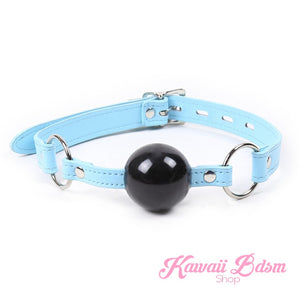 gag ball submissive bondage dom ddlg mdlg ddlb mdlb little blue keys lockable padlock by Kawaii BDSM - cute and kinky / Worldwide Free Shipping (469074182181)
