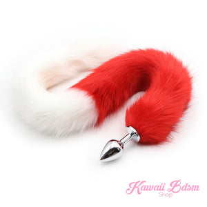 Extra Long Red & White Tail