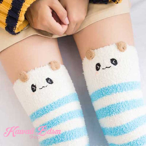 Blue Panda Thigh Highs