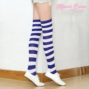 Striped Thigh High Socks (11562629383)