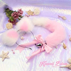 Linght Pink Tails & Ears Pet Set
