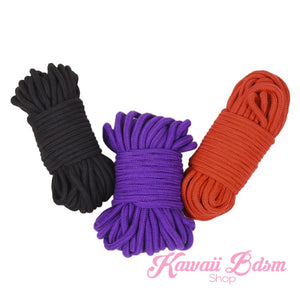 Extra long Shibari Rope kinbabu tied restraints Bondage submissive pink purple red and black cotton soft cute aesthetic kink positive  by Kawaii Bdsm - Cute and Kinky / Worldwide Free and Discreet Shipping (10992399559)