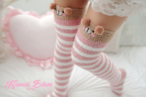 Striped Bear Thigh Highs