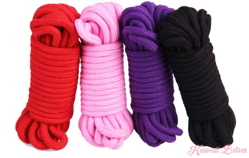 Shibari Rope kinbabu tied restraints Bondage submissive pink purple red and black cotton soft Harness cute aesthetic kink positive  by Kawaii Bdsm - Cute and Kinky / Worldwide Free and Discreet Shipping  (10887775047)
