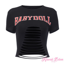babydoll sexy t-shirt top ddlg mdlg cglg little girl camgirl sex worker positive body baby doll tattoo alternative ddlgworld ddlgplayground bondage submissive by Kawaii BDSM - cute and kinky / Worldwide Free Shipping (4503495213108)