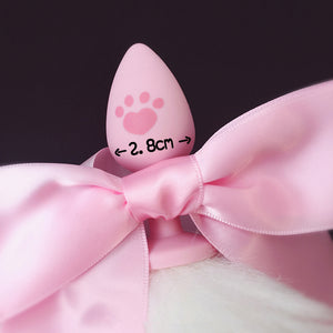 bunny rabbit vegan faux fur tail plug silicone stainless steel neko  kitten girl boy petplay pet sexy catgirl cat kitten adult toys buttplug plug anal ass submissive ddlg cgl mdlg mdlb ddlb little by Kawaii BDSM - cute and kinky / Worldwide Free Shipping