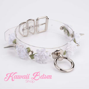Spiked Floral Collar