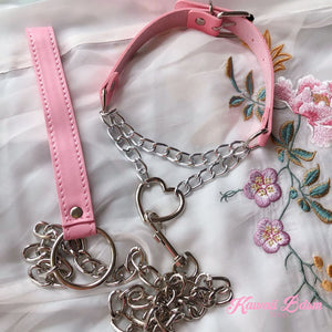 Chain Heart Choker & leash (5243106656418)