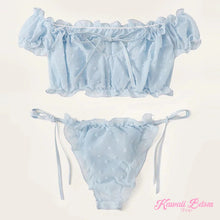 lingerie pink blue light top  panties delicate ddlg mdlg cglg little girl camgirl sex worker positive body baby doll tattoo alternative ddlgworld ddlgplayground bondage submissive by Kawaii BDSM - cute and kinky / Worldwide Free Shipping (4435100074036)