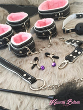 Bdsm kit Set 11 pcs Luxury Premium Superior Quality gag hand cuffs collar leash ankle cuffs whip paddle vegan leather bondage cute white pink fetish aesthetic ddlg cglg mdlg ddlb mdlb little bondage submissive restraints sex couple by Kawaii BDSM - cute and kinky / Worldwide Free Shipping