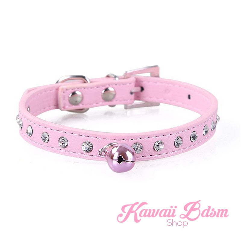 Cute kitten pet puppy pink girly sissy sexy petplay ageplay ddlg mdlg mdlb ddlb crystal collar choker love gift daddy babygirl baby boy submissive sub dominant dom by Kawaii BDSM - cute and kinky / Worldwide Free Shipping