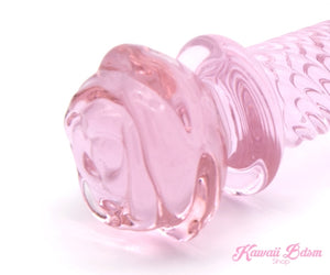 Glass Dildo Pink Heart Adult toy Wand Anal buttPlug Massager aesthetic kittenplay petplay sub bondage ddlg cglg babygirl mdlb instagram tumblr femboy sissy dominant toy anal by Kawaii Bdsm - Cute and Kinky / Worldwide Free and Discreet Shipping