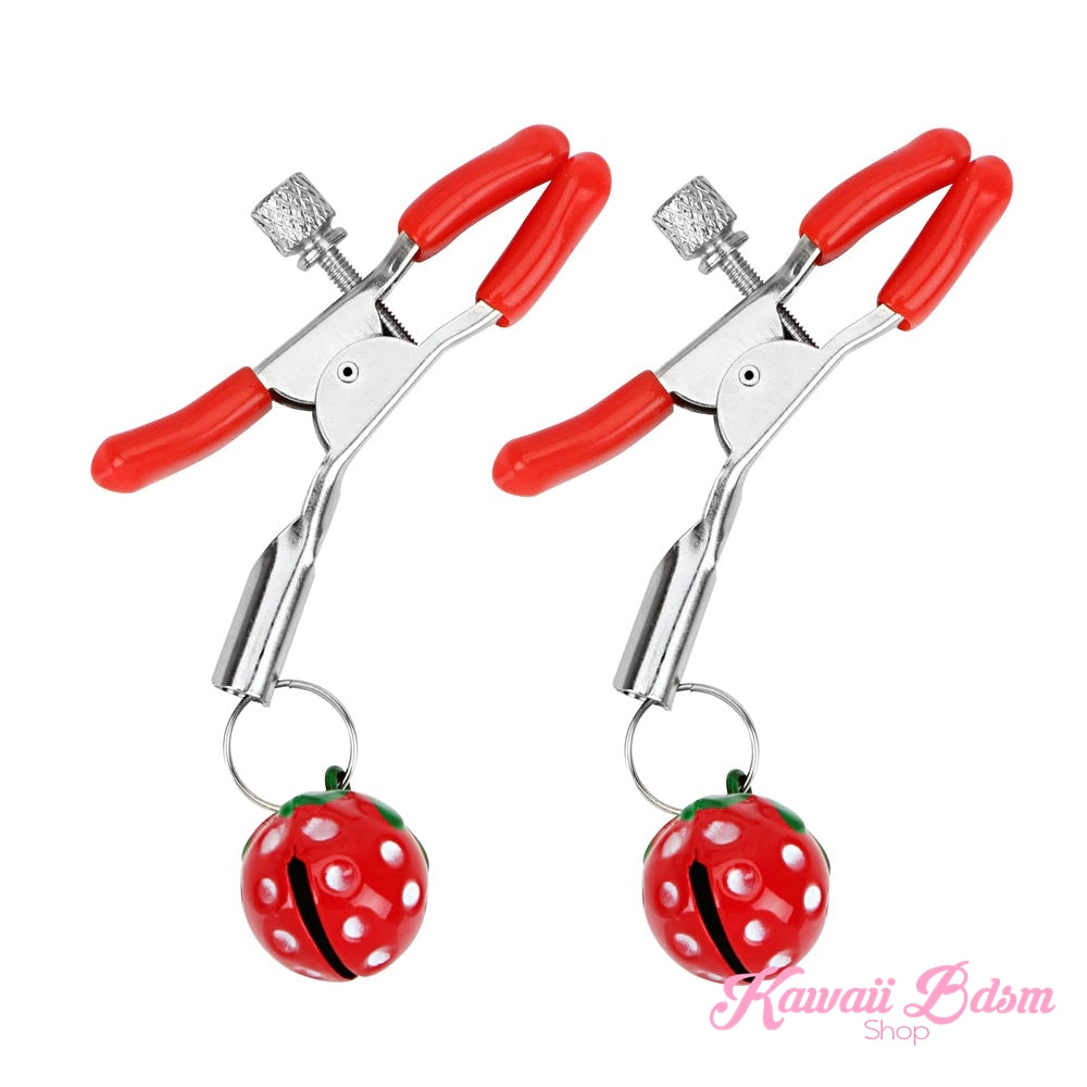 Strawberries Nipple Clamps (5908607074466)