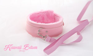 Fluffy Collar & Leash