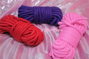 Shibari Rope kinbabu tied restraints Bondage submissive pink purple red and black cotton soft Harness cute aesthetic kink positive  by Kawaii Bdsm - Cute and Kinky / Worldwide Free and Discreet Shipping