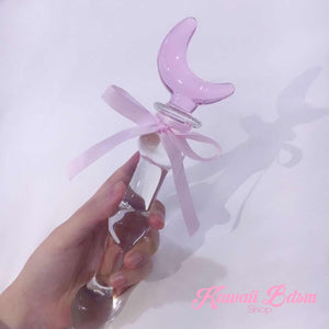 Glass wand dildo icicles sex toy pink ddlg abdl cglg mdlb cglb petplay ageplay abdl sexy dominant aesthetic sissy femboy  by by Kawaii Bdsm - Cute and Kinky / Worldwide Free and Discreet Shipping
