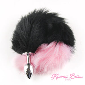 Black Tail Plug w/ Light Pink Tip