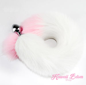 white and pink fox kitten puppy play vegan faux fur tail plug silicone stainless steel neko catgirl cat kittenplay kitten girl boy petplay pet sexy adult toys buttplug plug anal ass submissive goth creepy cute yami ddlg cgl mdlg mdlb ddlb little by Kawaii BDSM - cute and kinky / Worldwide Free Shipping (1074250088500)