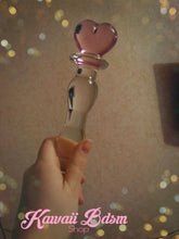 Bdsm Glass Dildo Pink Heart Adult toy Wand Anal Plug Massager aesthetic kittenplay petplay sub bondage ddlg cglg babygirl mdlb by Kawaii Bdsm - Cute and Kinky / Worlwide Free and Disreet Shipping (10885581575)