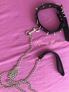 collar leash choker fashion goth sexy slave sub submissive ddlg cglg cglb mdlb mommy daddy little bondage black pink gothic fashion outfit petplay ageplay roleplay aesthetic white by Kawaii Bdsm - Cute and Kinky / Worldwide Free and Discreet Shipping  (781560414260)