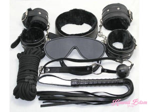 Black Princess Bondage 7Pcs Set