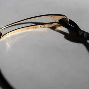 Limited Edition: humanKIND original 14K gold bracelet