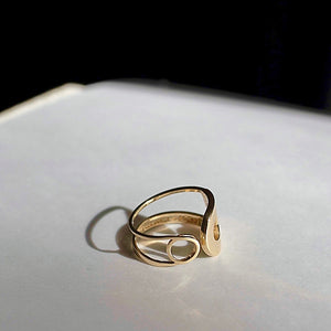 Limited Edition: humanKIND script 14k gold ring (pinky +  knuckle)