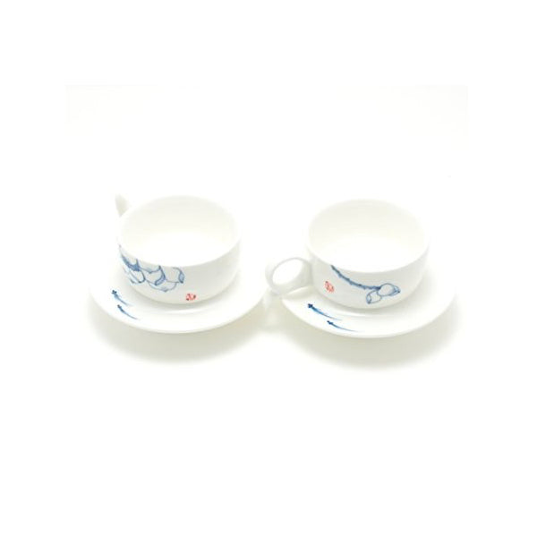 Fish & Lotus - Cup & Saucer Set