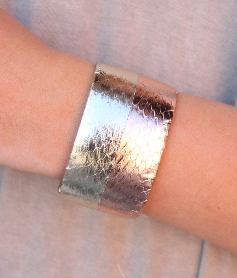 Adele Two Tone Cuff - Caroline Hill