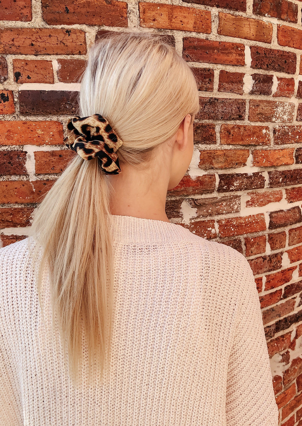 Alpha Brown Leopard Print Scrunchie - Caroline Hill