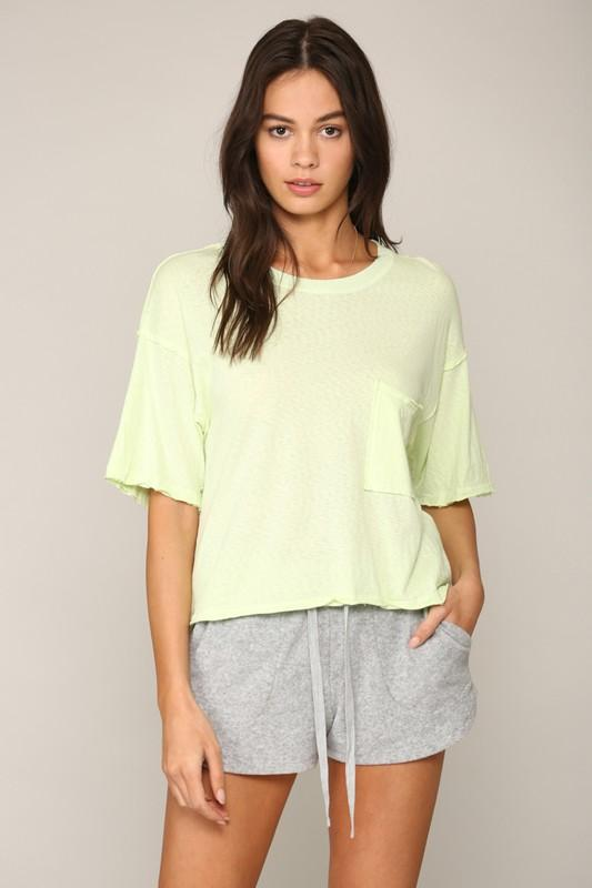 Always Remember Me Neon Lime Tee - Caroline Hill