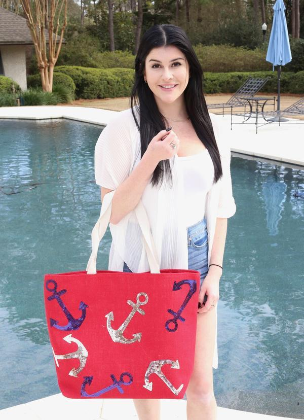 Anchors Away Jute Tote Bag Red - Caroline Hill