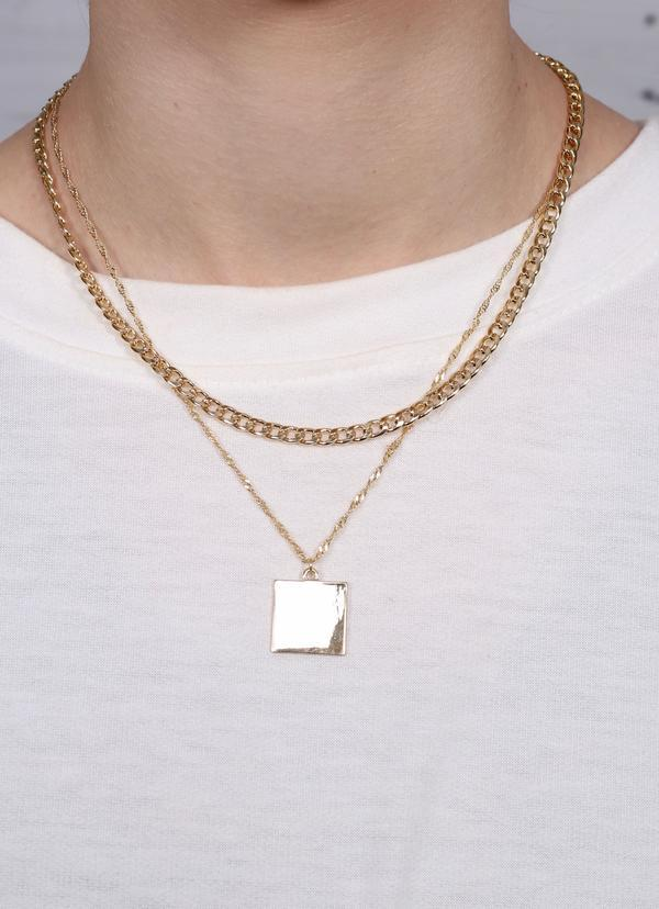 Angeles Gold Layered Necklace - Caroline Hill