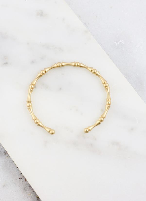 Arizona Gold Bamboo Cuff - Caroline Hill