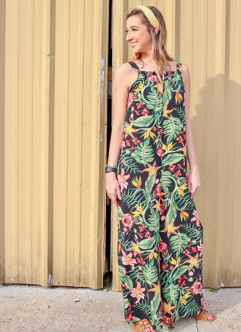 Aruba Sands Black Tropics Jumpsuit - Caroline Hill