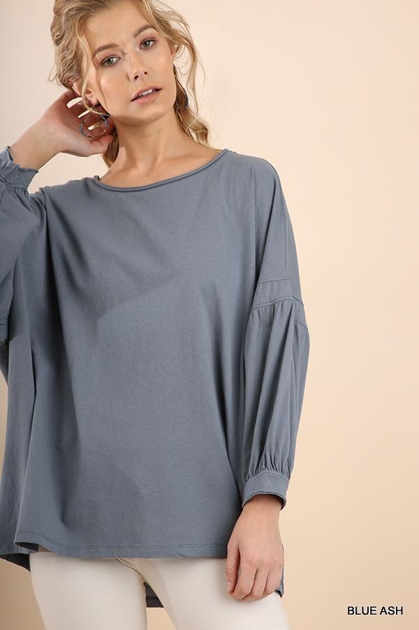 Ashes to Ashes Balloon Sleeve Top - Caroline Hill