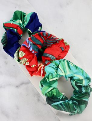 Atkins Set of Three Tropical Scrunchies - Caroline Hill