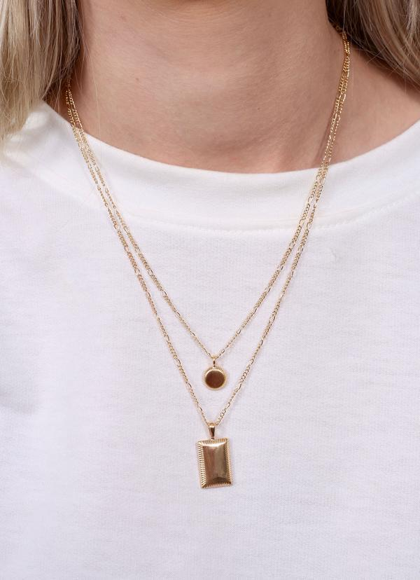 Barnett Double Layer Necklace Gold - Caroline Hill