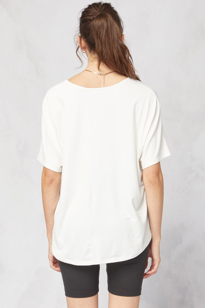 Basic Is Best Off White Top - Caroline Hill