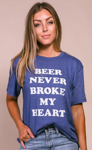 Beer Never Broke My Heart Tee By Charlie Southern - Caroline Hill