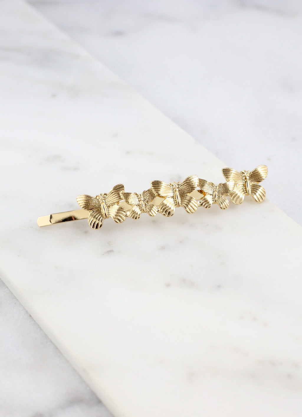 Beta Gold Butterfly Hair Pin - Caroline Hill