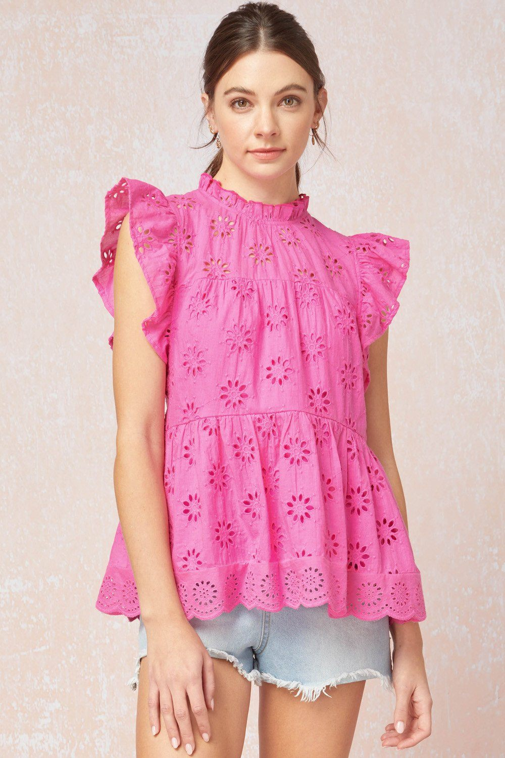 Bright & Happy Eyelet Top - Caroline Hill