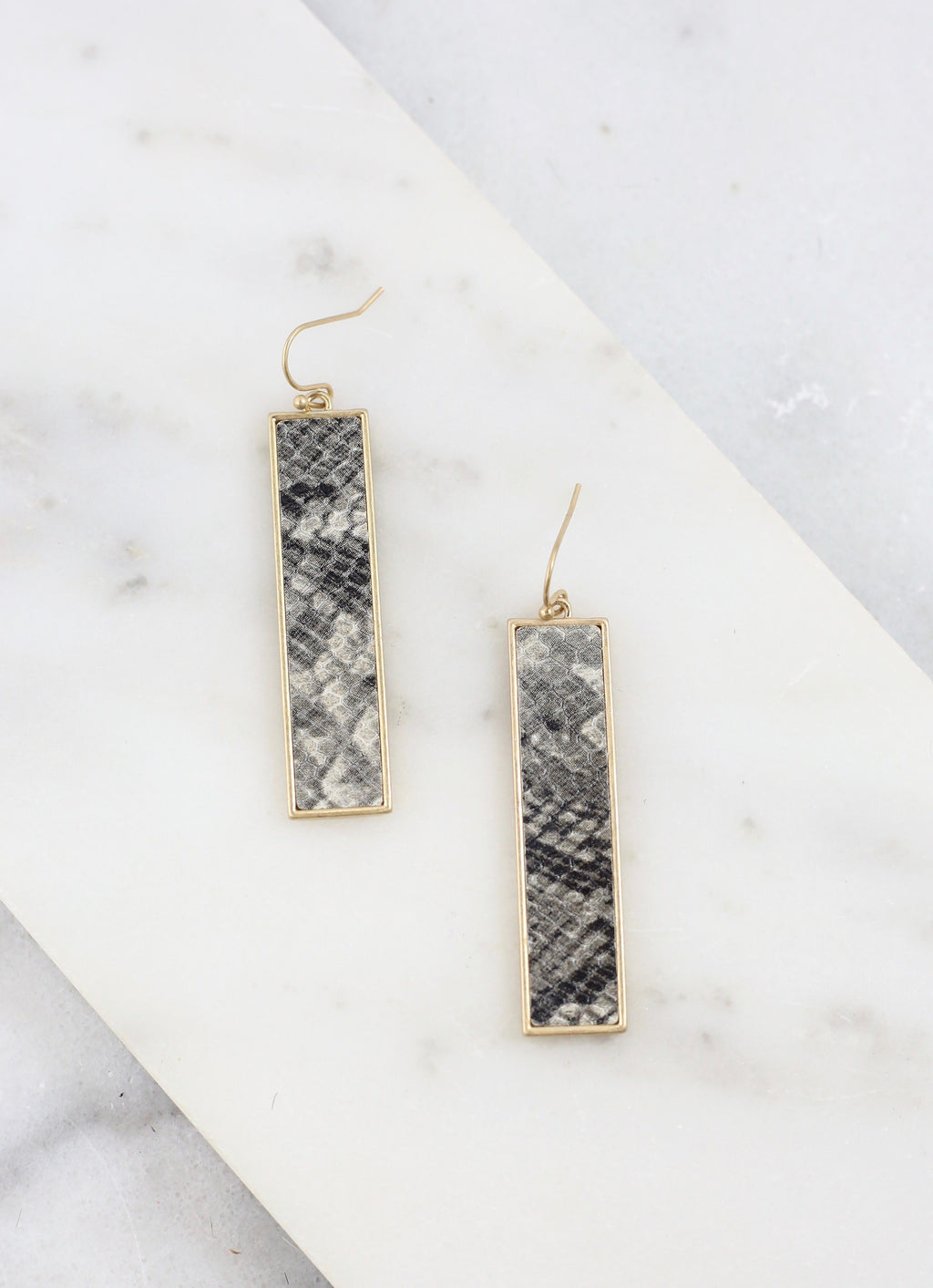 Bulloch Snake Gray Bar Earring - Caroline Hill