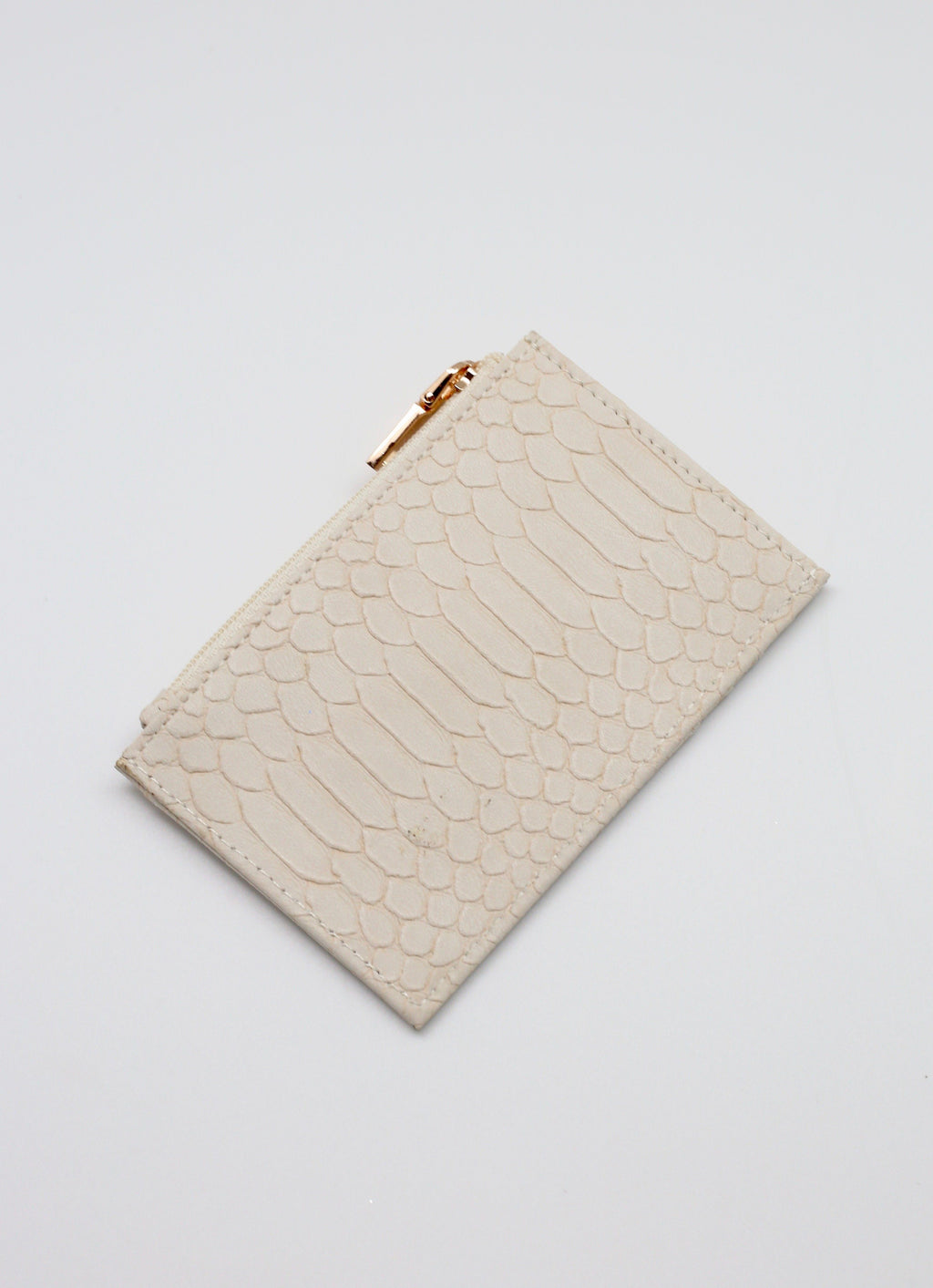 Caleb Snake Beige Card Holder - Caroline Hill
